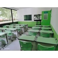 多功能一体学生课桌_托管班课桌椅_课桌椅批发